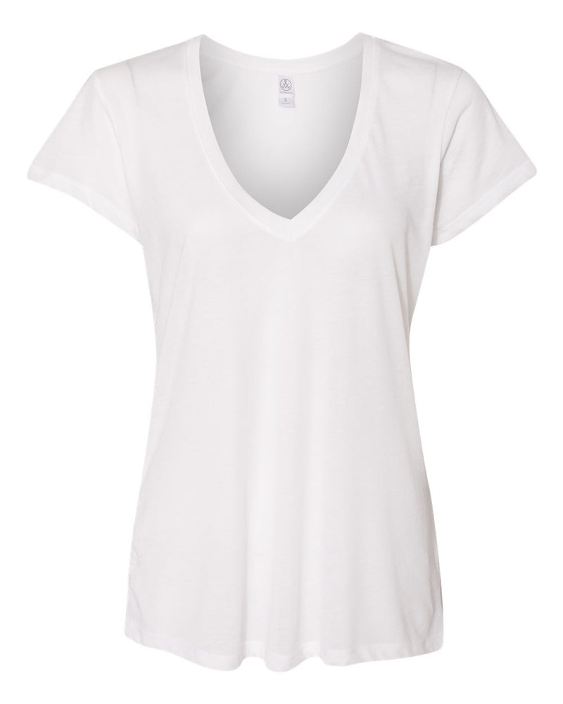 Women's Slinky Jersey V-Neck Tee-Alternative Apparel-Pacific Brandwear