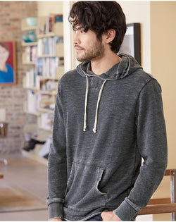 School Yard Burnout French Terry Hooded Sweatshirt-Alternative Apparel-Pacific Brandwear
