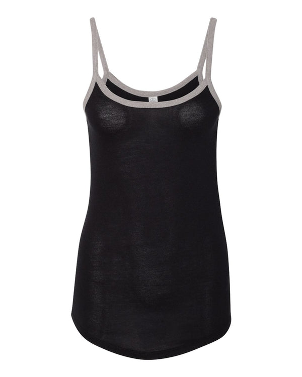 Women's Vintage Jersey Ringer Cami Tank-Alternative Apparel-Pacific Brandwear