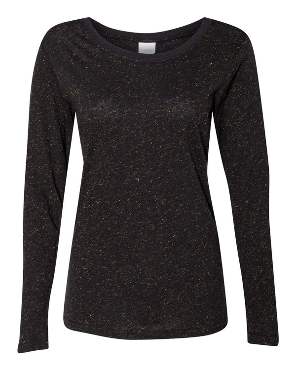Women's Glitter Long sleeve T-Shirt-J. America-Pacific Brandwear