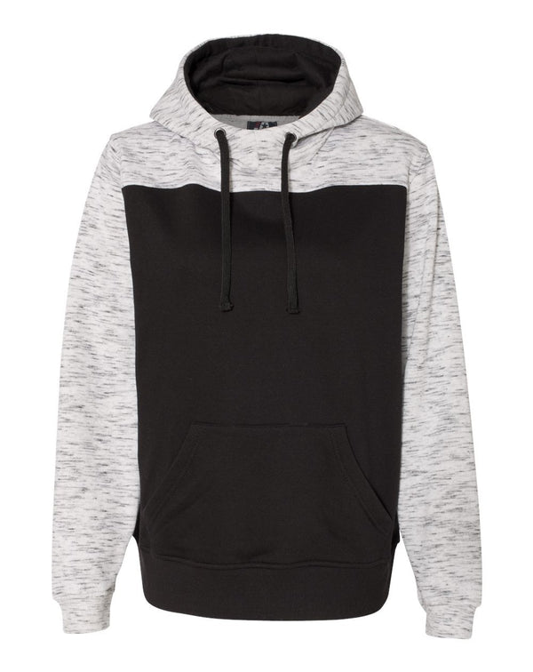 M_lange Fleece Colorblocked Hooded SweatShirt-J. America-Pacific Brandwear