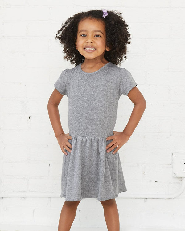 Toddler Baby Rib Dress-Rabbit Skins-Pacific Brandwear