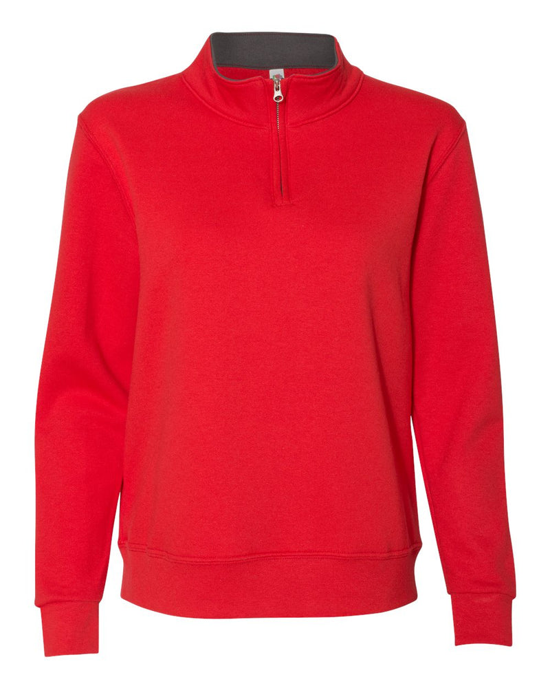 Women's SofSpun Quarter-Zip SweatShirt-Fruit of the Loom-Pacific Brandwear