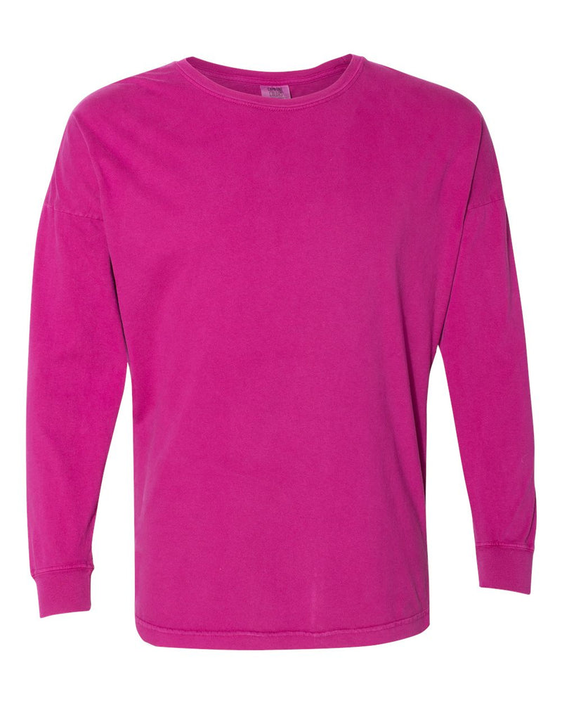 Garment-Dyed Drop-Shoulder Long sleeve T-Shirt-Comfort Colors-Pacific Brandwear