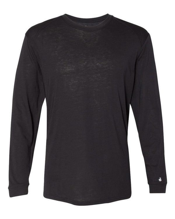 Triblend Performance Long sleeve T-Shirt-Badger-Pacific Brandwear