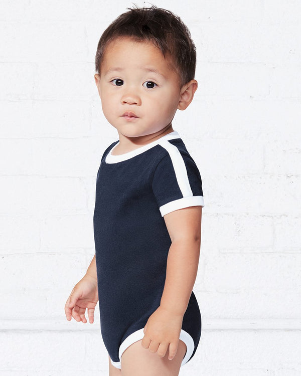 Infant Retro Ringer Fine Jersey Bodysuit-Rabbit Skins-Pacific Brandwear