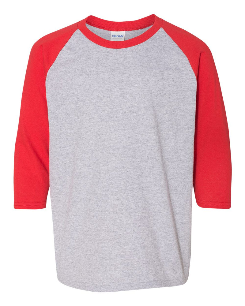 Heavy Cotton Youth Raglan Three-Quarter sleeve T-Shirt-Gildan-Pacific Brandwear