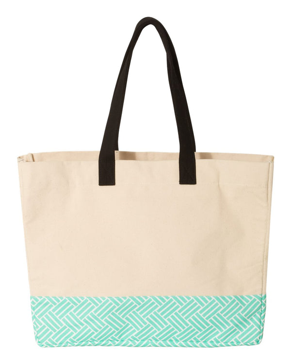 29L Bottom Pattern Beach Tote-Brookson Bay-Pacific Brandwear