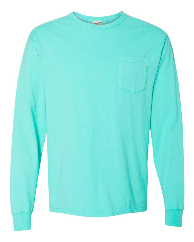 Garment Dyed Long sleeve T-Shirt With a Pocket-ComfortWash by Hanes-Pacific Brandwear