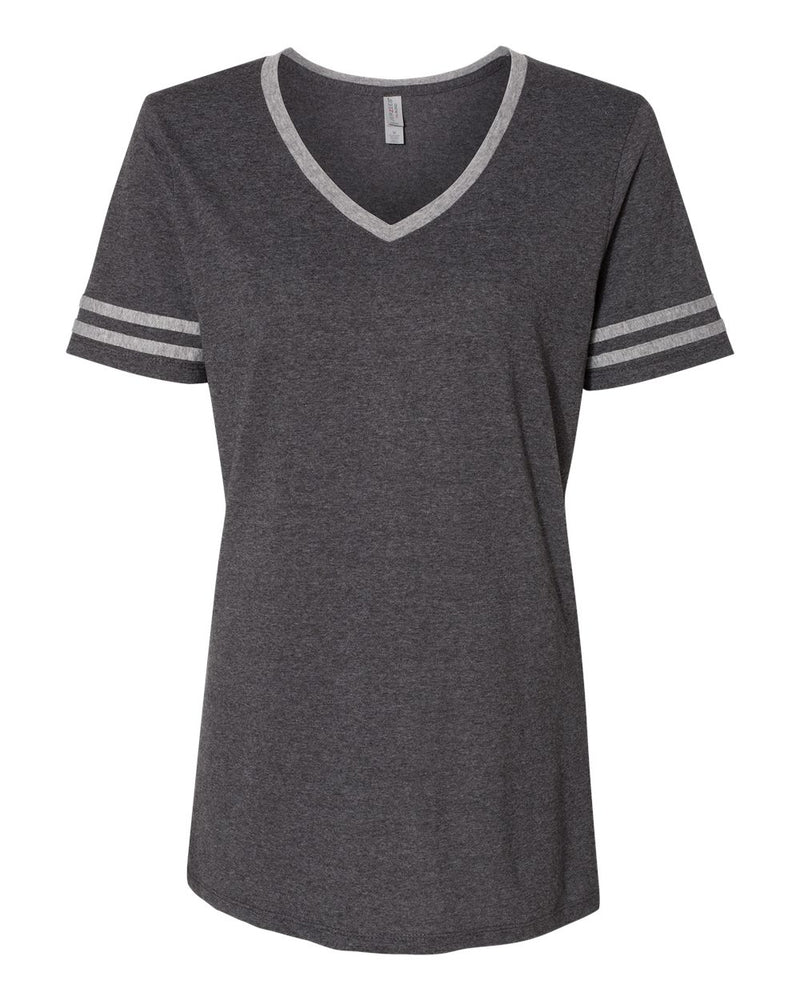 Women's Varsity Triblend V-Neck T-Shirt-JERZEES-Pacific Brandwear
