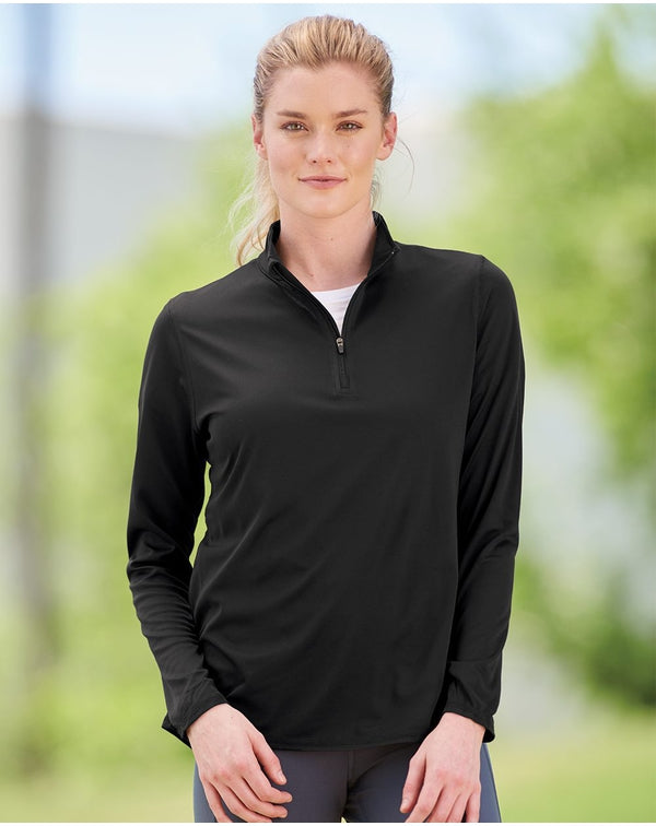 Women's Attain True Hue Performance Quarter-Zip Pullover-Augusta Sportswear-Pacific Brandwear