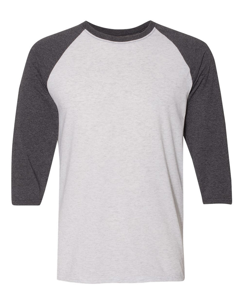 Triblend Three-Quarter Raglan Baseball T-Shirt-JERZEES-Pacific Brandwear