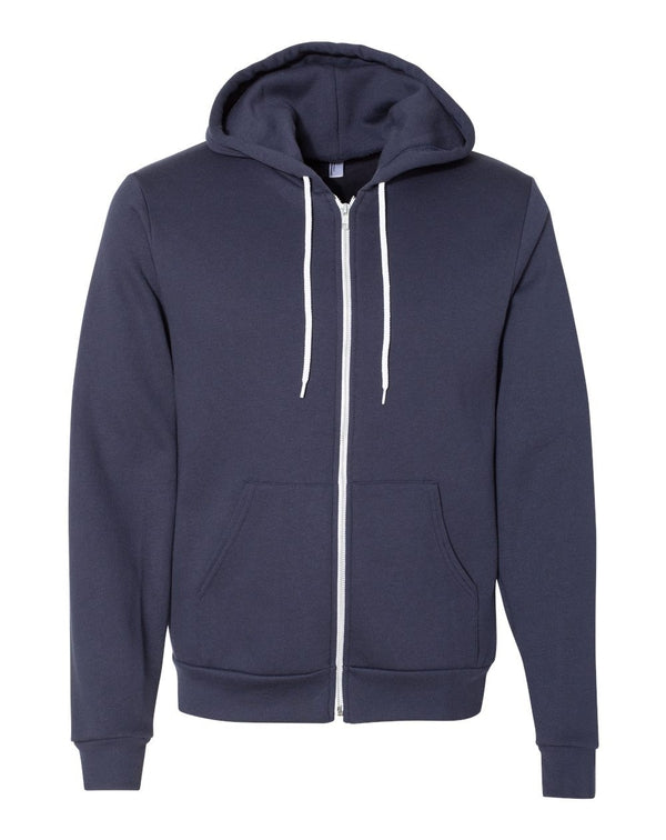 USA-Made Flex Fleece Unisex Full-Zip Hoodie-American Apparel-Pacific Brandwear