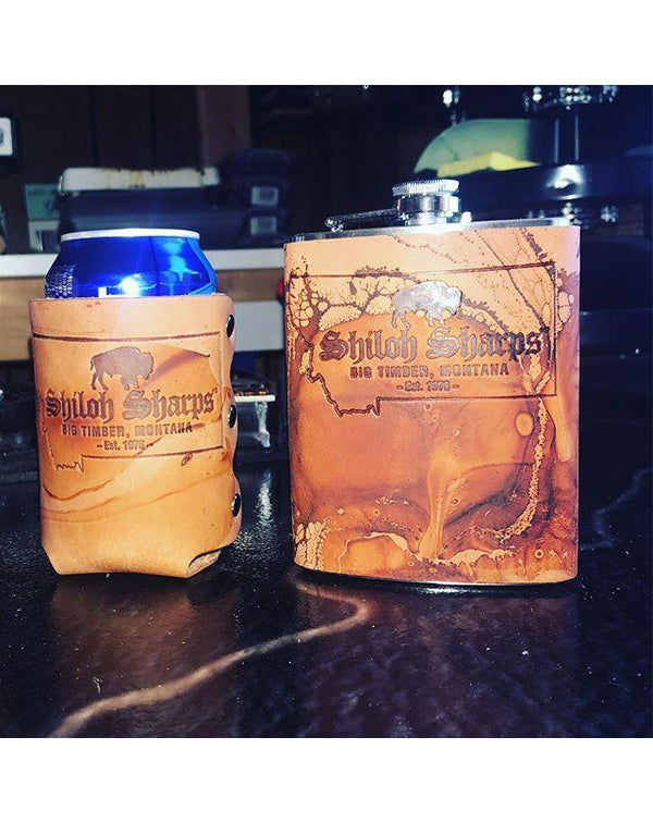 American Made Leather Drinkware Accessories-Pacific Brandwear-Pacific Brandwear