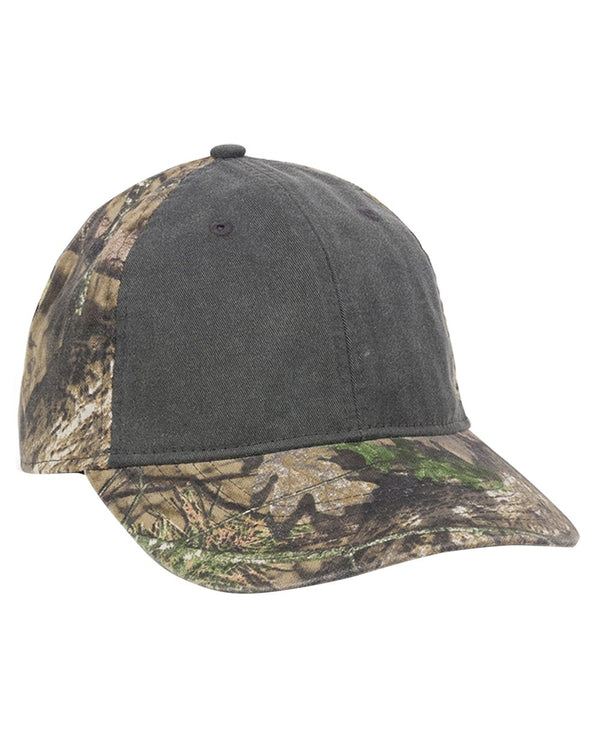 Camo Cap with Pigment-Dyed Twill Front-Outdoor Cap-Pacific Brandwear
