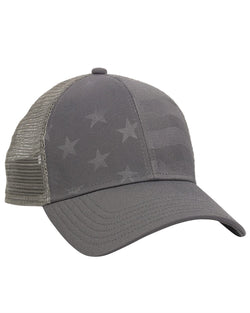Debossed Stars and Stripes Mesh-Back Cap-Outdoor Cap-Pacific Brandwear