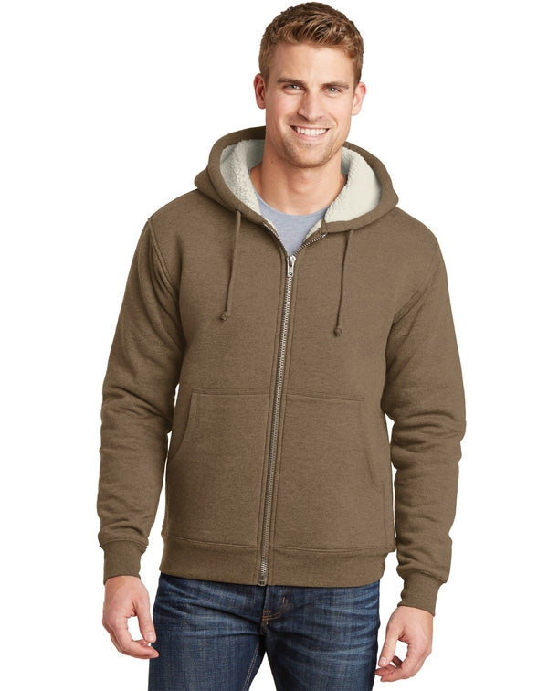 CornerStone® Heavyweight Sherpa-Lined Hooded Fleece Jacket-CornerStone-Pacific Brandwear