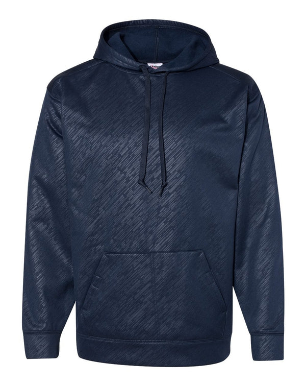 Line Embossed Hooded SweatShirt-Badger-Pacific Brandwear