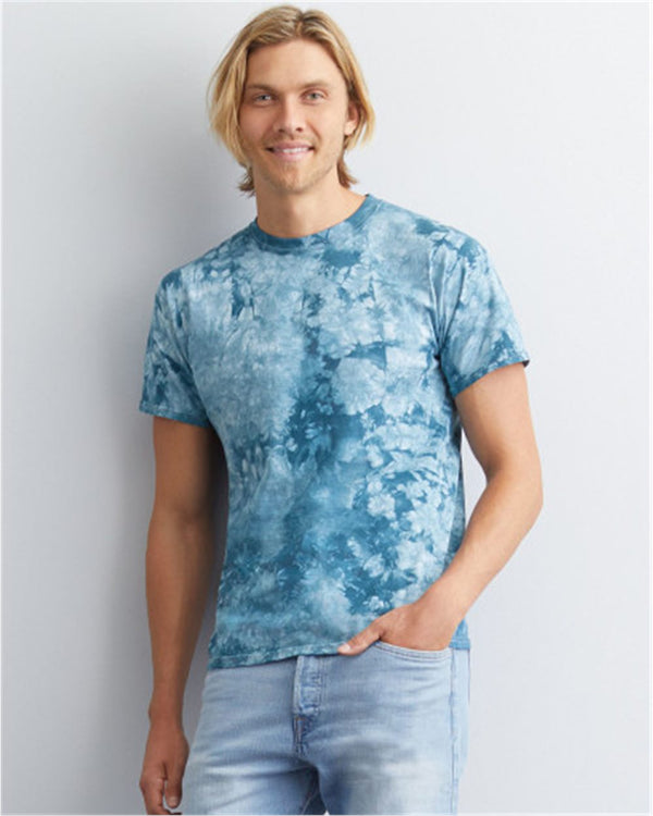 Crystal Tie Dye T-Shirt-Fruit of the Loom-Pacific Brandwear