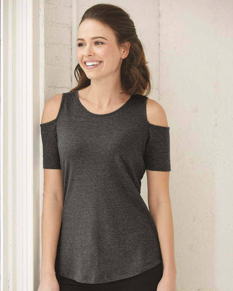 Women's Cold Shoulder T-Shirt-Boxercraft-Pacific Brandwear