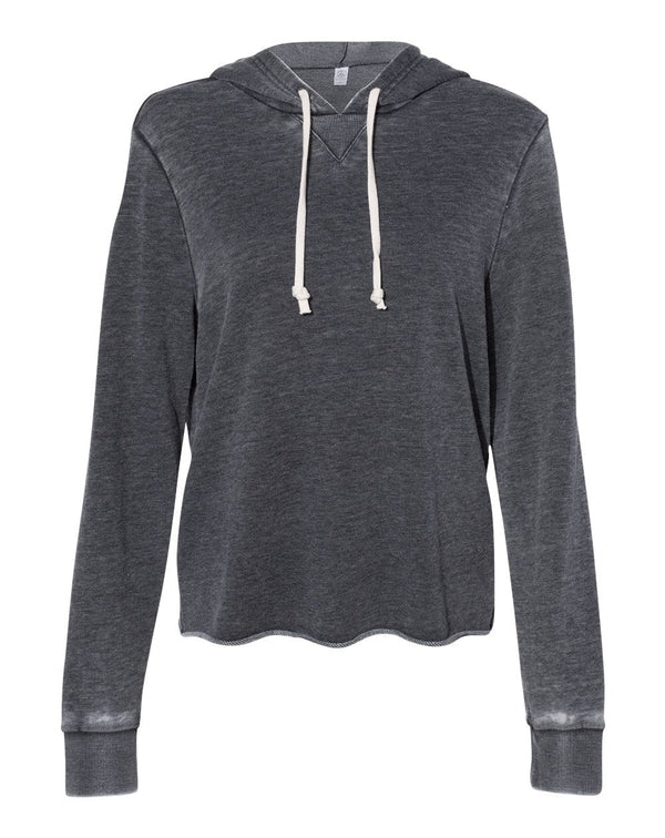 Women's Day Off Burnout French Terry Hooded Sweatshirt-Alternative Apparel-Pacific Brandwear