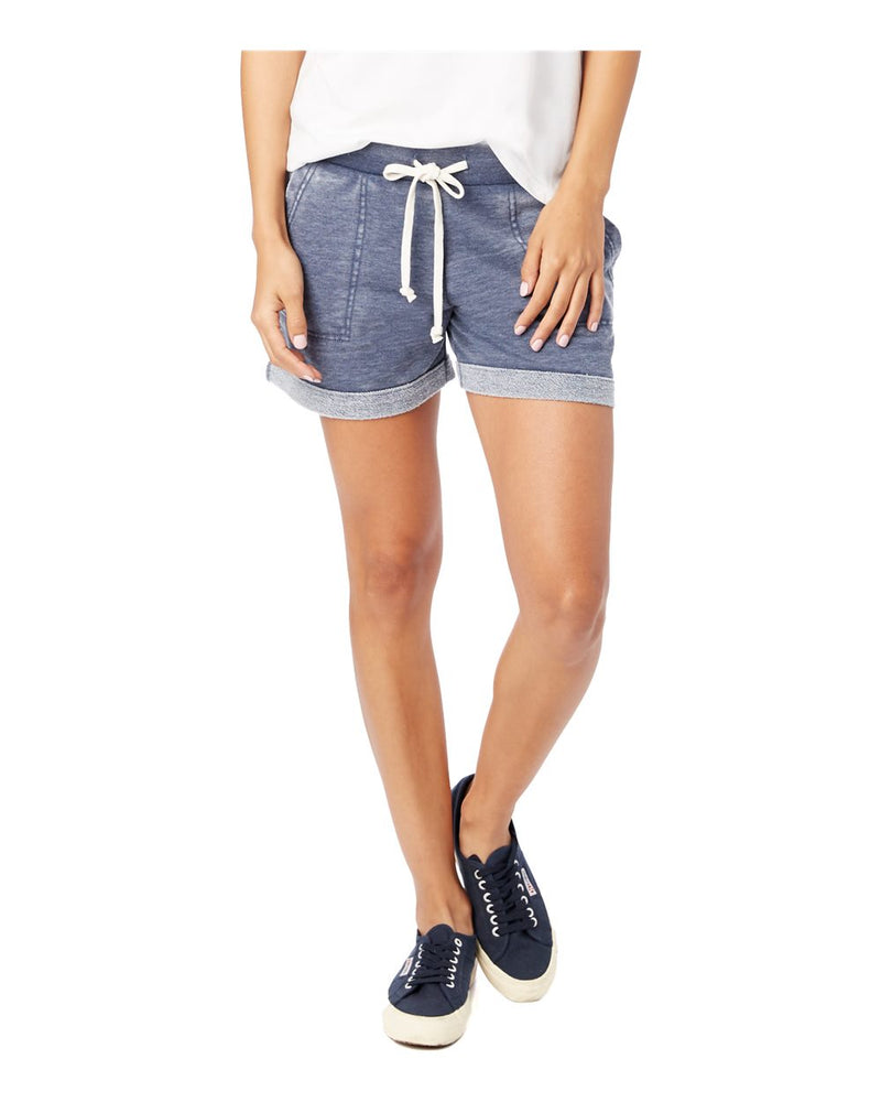Women's Lounge Burnout French Terry Shorts-Alternative Apparel-Pacific Brandwear