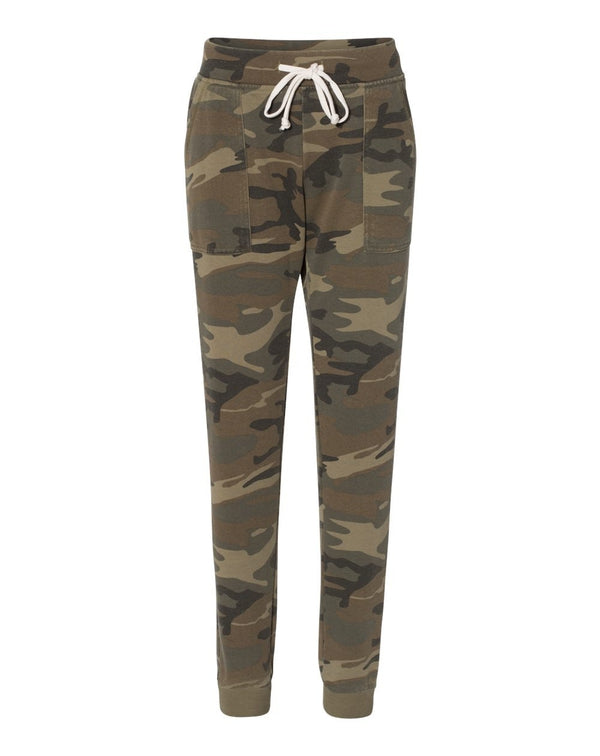 Women's Long Weekend Burnout French Terry Joggers-Alternative Apparel-Pacific Brandwear