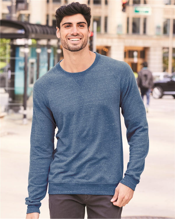 Snow Heather French Terry Crewneck SweatShirt-JERZEES-Pacific Brandwear