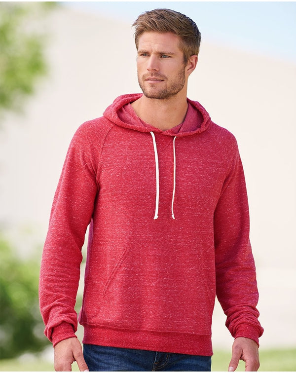 Snow Heather French Terry Pullover Hood SweatShirt-JERZEES-Pacific Brandwear