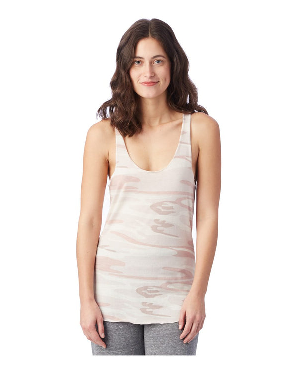 Women's Printed Meegs Eco-Jersey Racerback Tank-Alternative Apparel-Pacific Brandwear