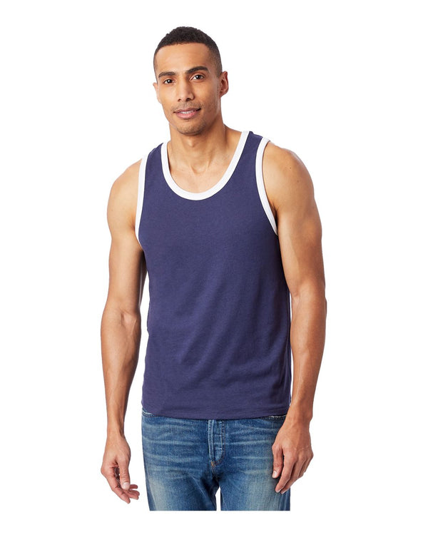Keeper Vintage Jersey Ringer Tank Top-Alternative Apparel-Pacific Brandwear
