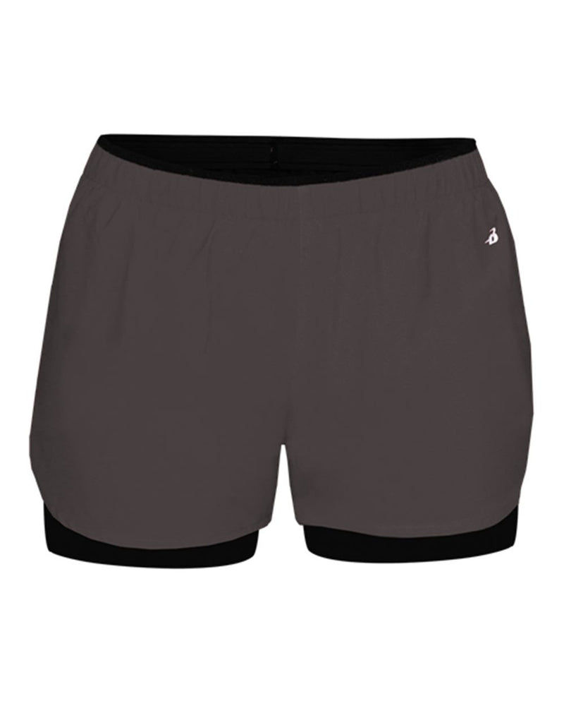 Women's Double Up Shorts-Badger-Pacific Brandwear