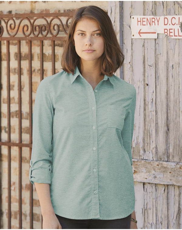 Weatherproof Vintage Stretch Brushed Oxford Women's Shirt-Weatherproof-Pacific Brandwear