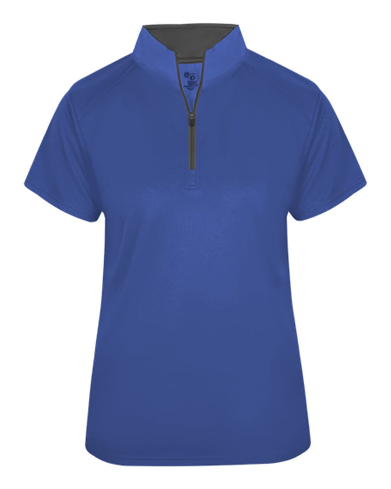 Women's B-Core Quarter-Zip T-Shirt-Badger-Pacific Brandwear