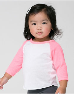 Infant Poly/Cotton Three-Quarter sleeve Raglan Tee-American Apparel-Pacific Brandwear