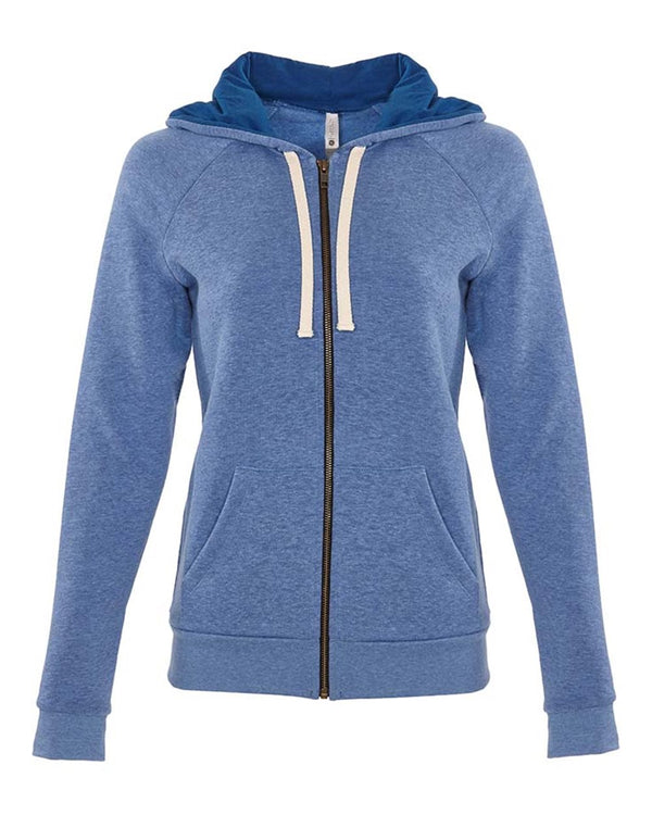 Women's PCH Raglan Zip Hoodie-Next Level-Pacific Brandwear