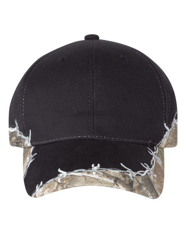 Camo Cap with Barbed Wire-Outdoor Cap-Pacific Brandwear