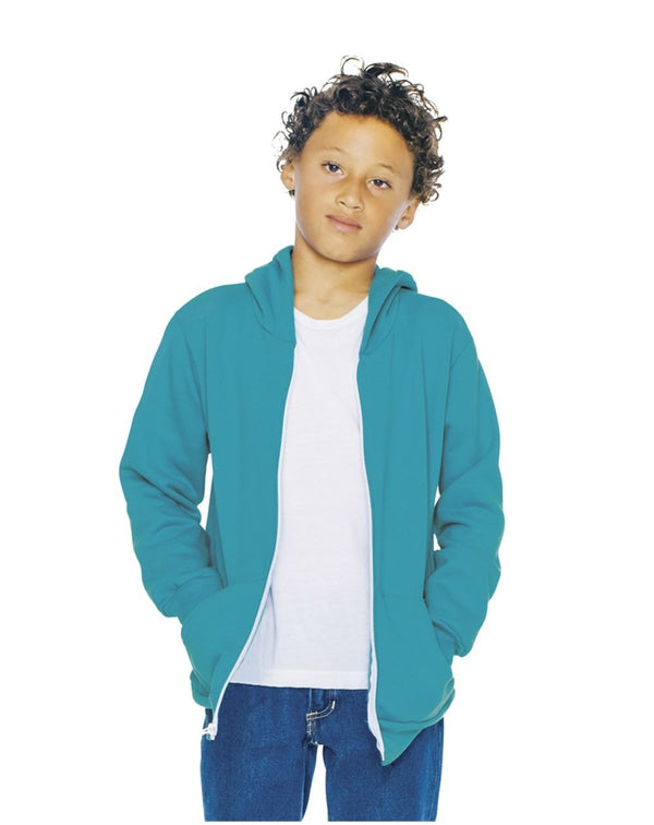 Youth Flex Fleece Zip Hoodie-American Apparel-Pacific Brandwear