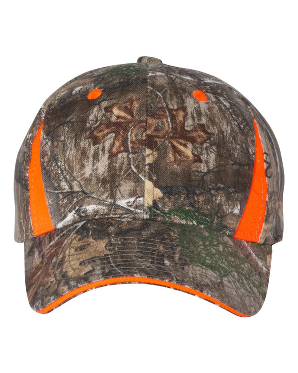 Camo Cap with Hi-Vis Trim-Outdoor Cap-Pacific Brandwear
