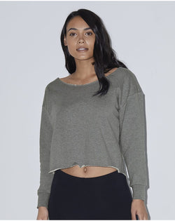 Women's Heavy Terry Athletic Crop Sweatshirt-American Apparel-Pacific Brandwear
