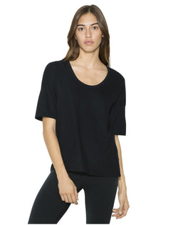 Women's Power Wash Deep U-Neck Tee-American Apparel-Pacific Brandwear