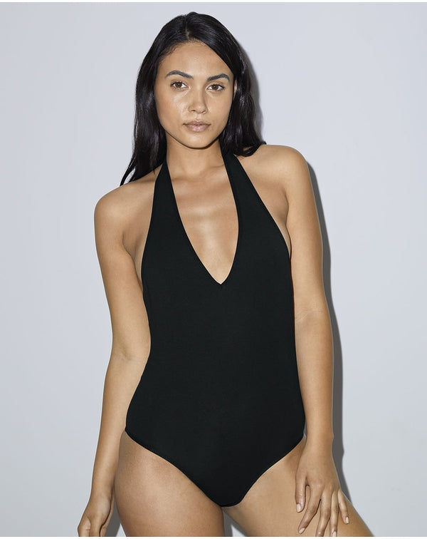 Women's Cotton Spandex Halter Bodysuit-American Apparel-Pacific Brandwear
