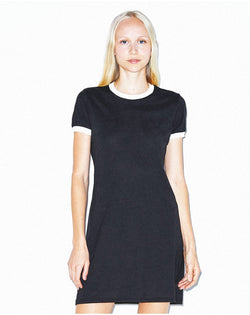 Women's Poly/Cotton Ringer Tee Dress-American Apparel-Pacific Brandwear