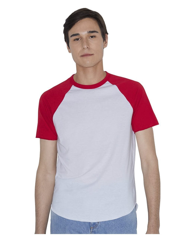 Unisex Poly/Cotton Raglan Tee-American Apparel-Pacific Brandwear