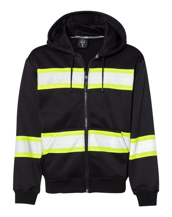 Enhanced Visibility Full-Zip Hooded Sweatshirt-ML Kishigo-Pacific Brandwear