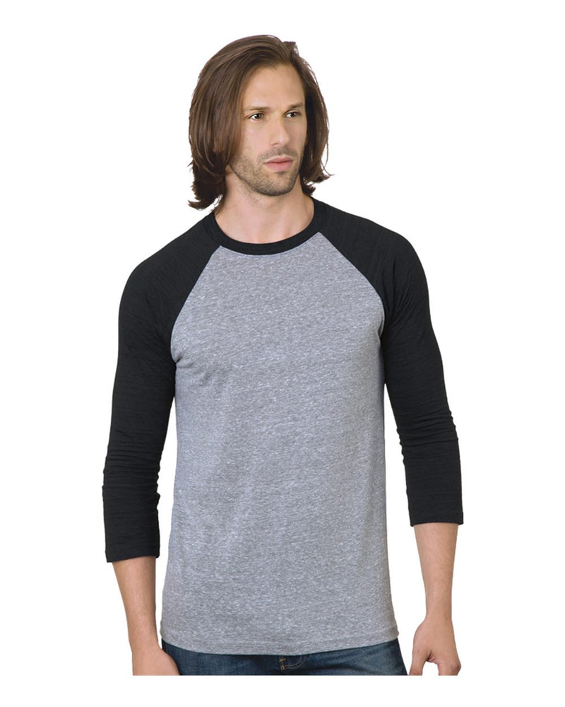 Triblend Three-Quarter sleeve Raglan Tee-Bayside-Pacific Brandwear