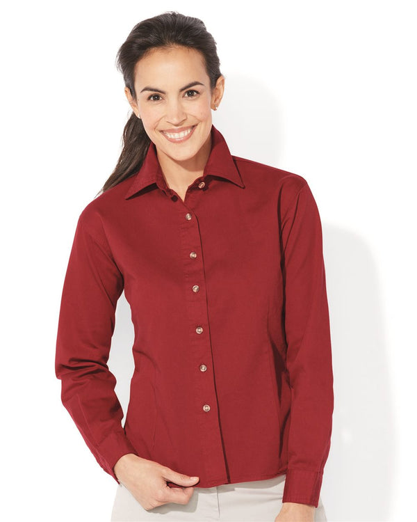 Women's Long sleeve Cotton Twill Shirt-Sierra Pacific-Pacific Brandwear