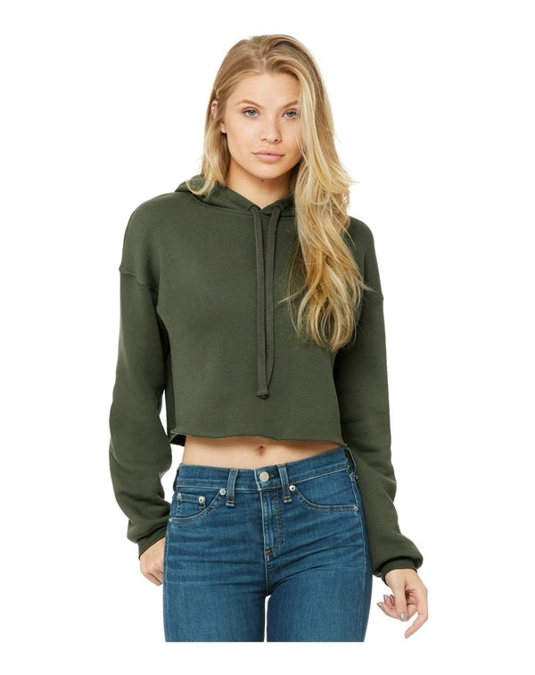 Women's Cropped Fleece Hoodie-BELLA + CANVAS-Pacific Brandwear