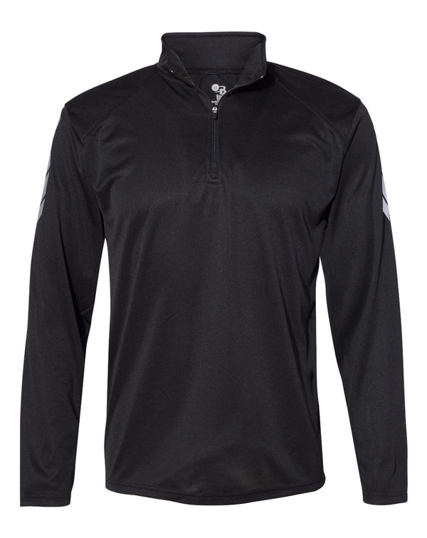 Metallic Print Quarter-Zip Pullover-Badger-Pacific Brandwear