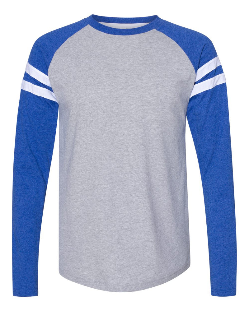 Fine Jersey Mash Up Long sleeve Tee-LAT-Pacific Brandwear